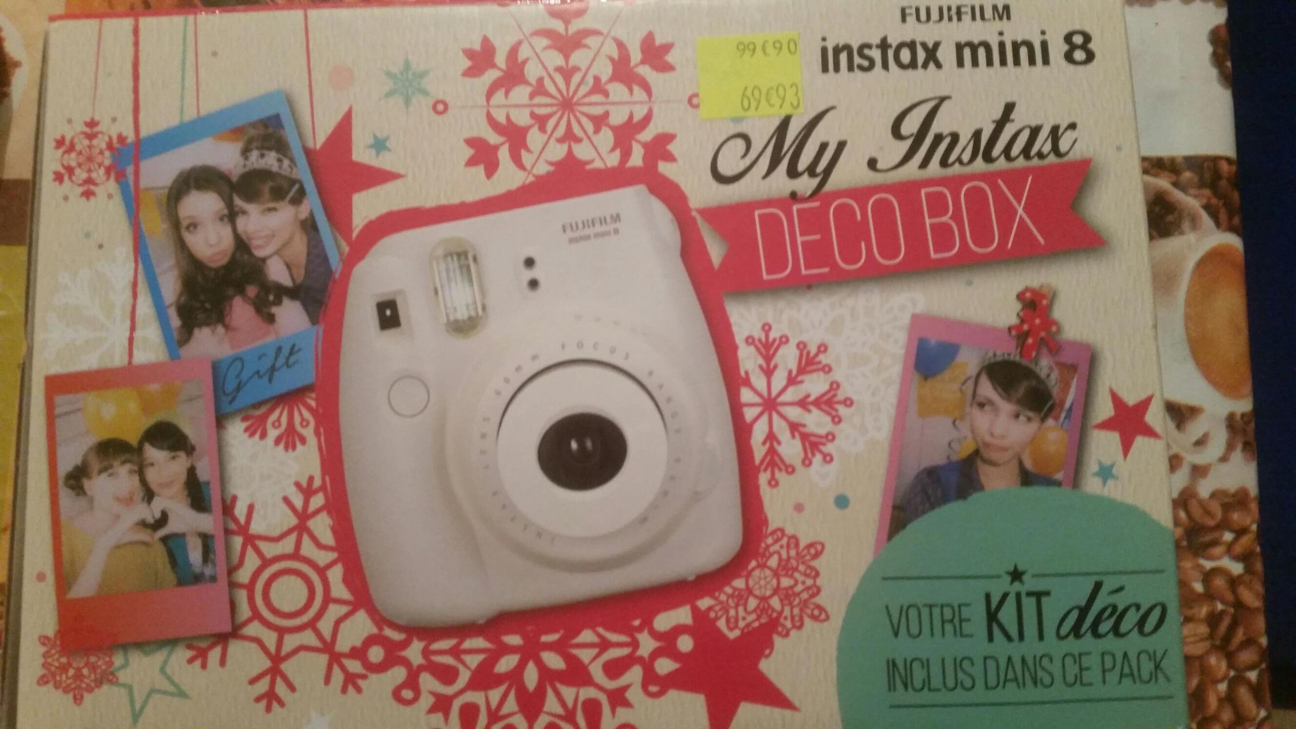 Pack appareil photo instantané Fujifilm Instax Mini 8 + accessoires (My Instax Deco Box)