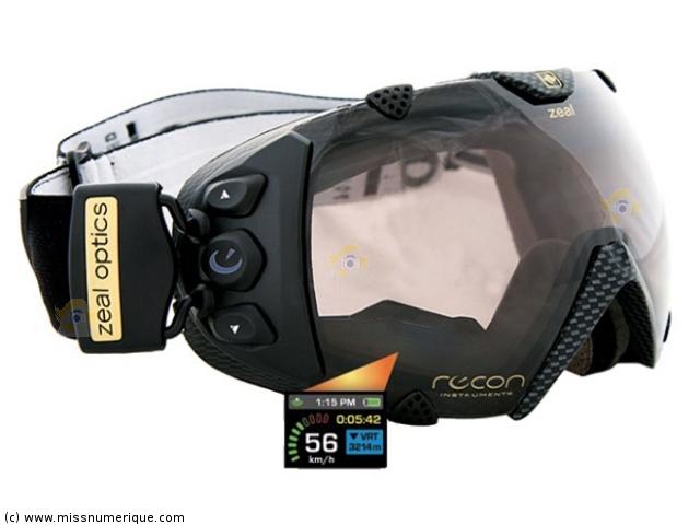 Du fun! Masque de ski avec visière polarisée et GPS intégré - ZEAL Transcend