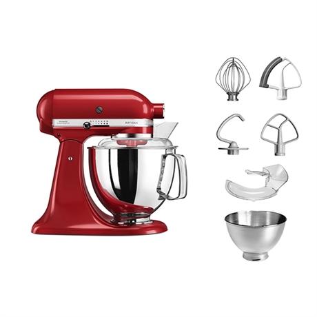 Robot Pâtissier Kitchenaid Artisan Rouge 5KSM175PS + Extracteur de jus ou machine à pâtes (via ODR)