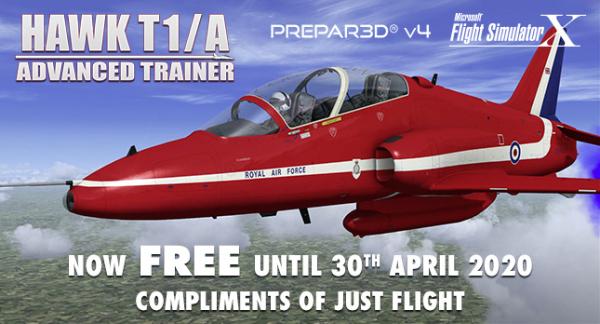 Addon Hawk T1/A Advanced Trainer Gratuit pour Flight Simulator X et Prepar3D sur PC (Dématérialisé) - JustFlight.com