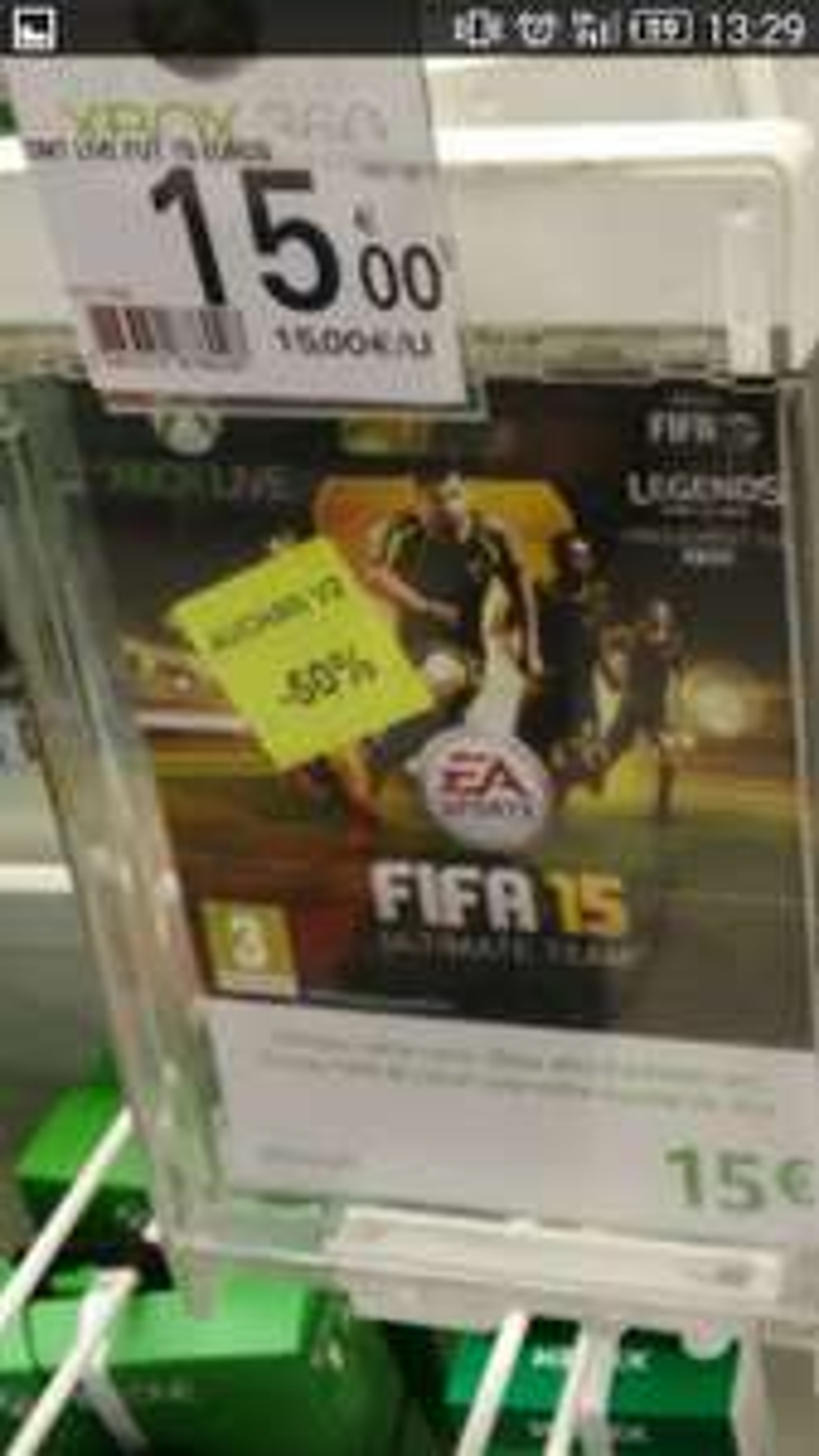 Carte Xbox live d'un montant de 15€
