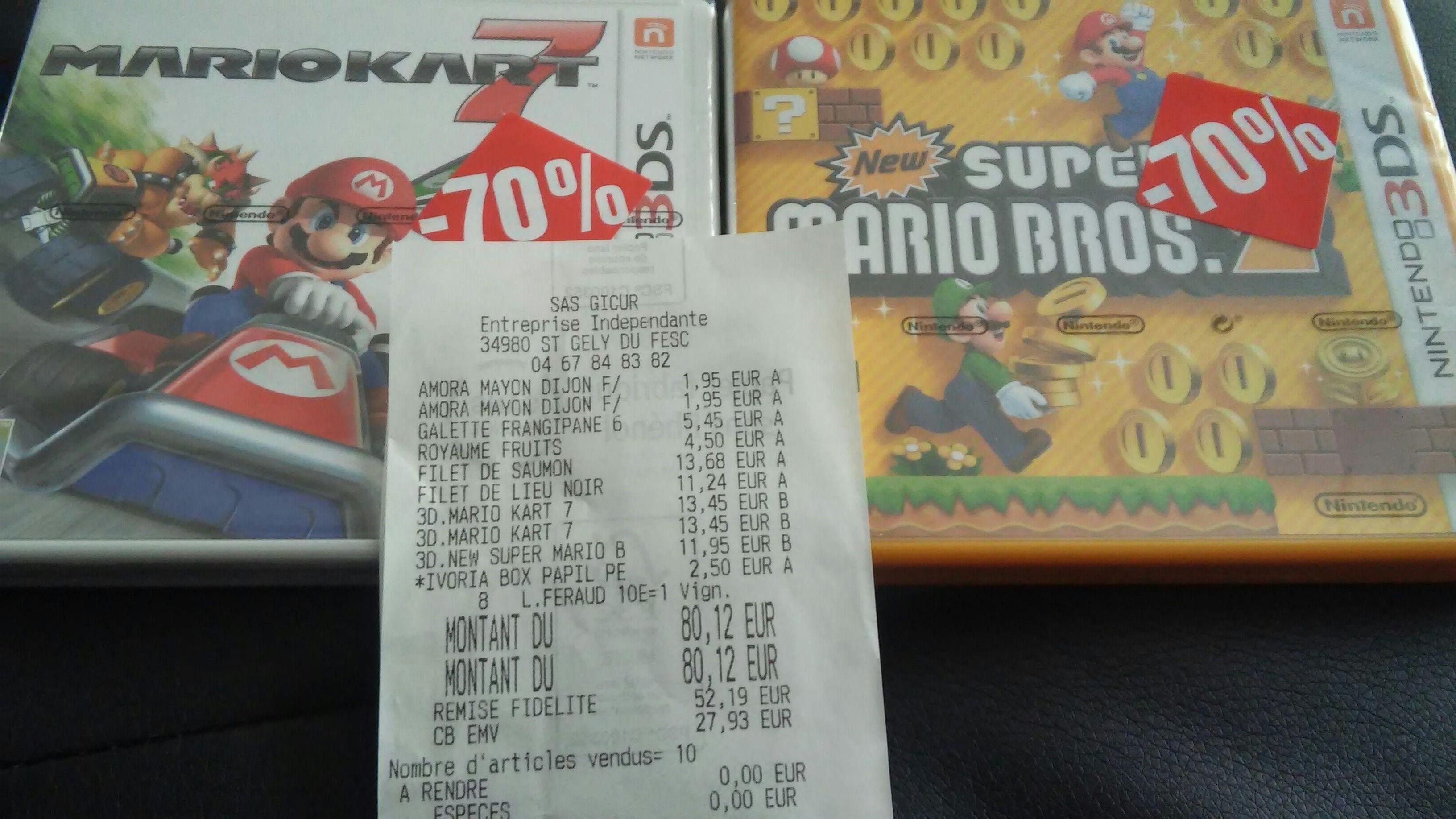 Selection de jeux 3DS à -70% - Ex : Mario Kart 7 sur 3DS