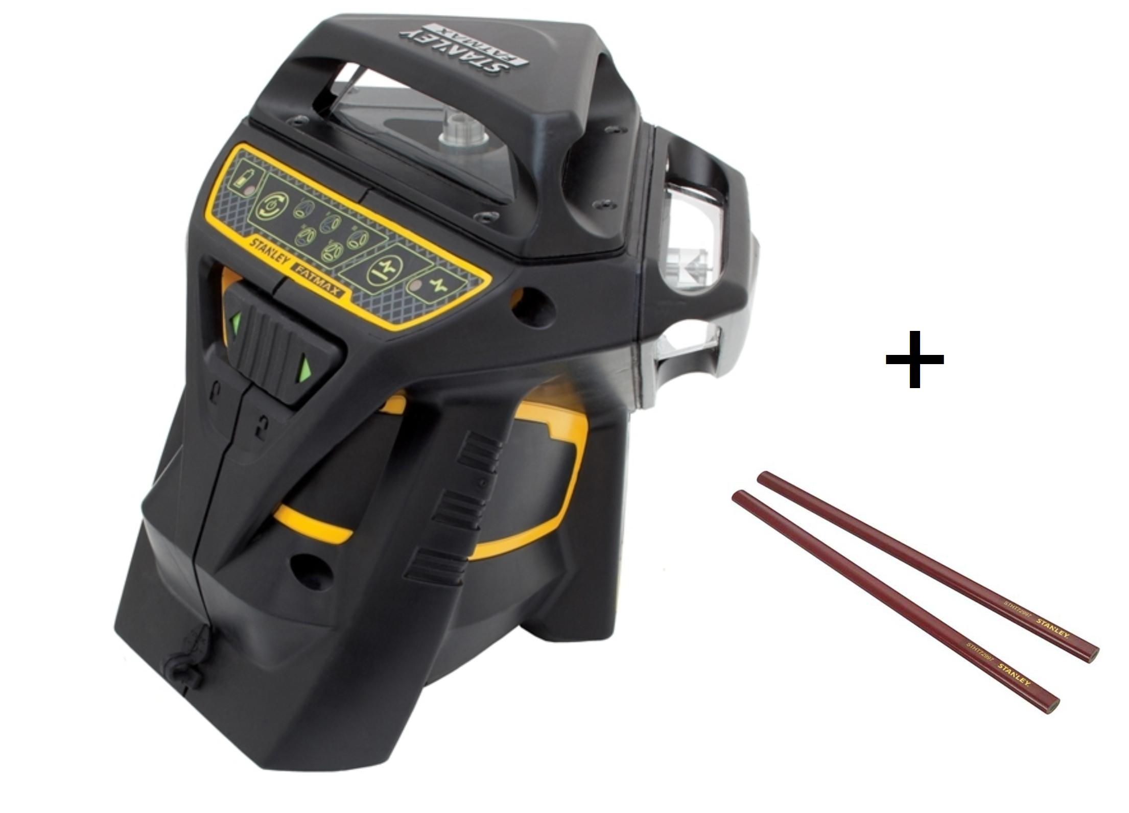 Niveau laser multilignes vert STANLEY X3G-360° - 6 lignes + crayon charpentier (Carte Total de 105€ offerte via ODR)