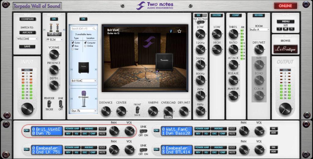 Plugin Simulateur d'amplis Torpedo Wall of Sound gratuit (Dématérialisé - two-notes.com)