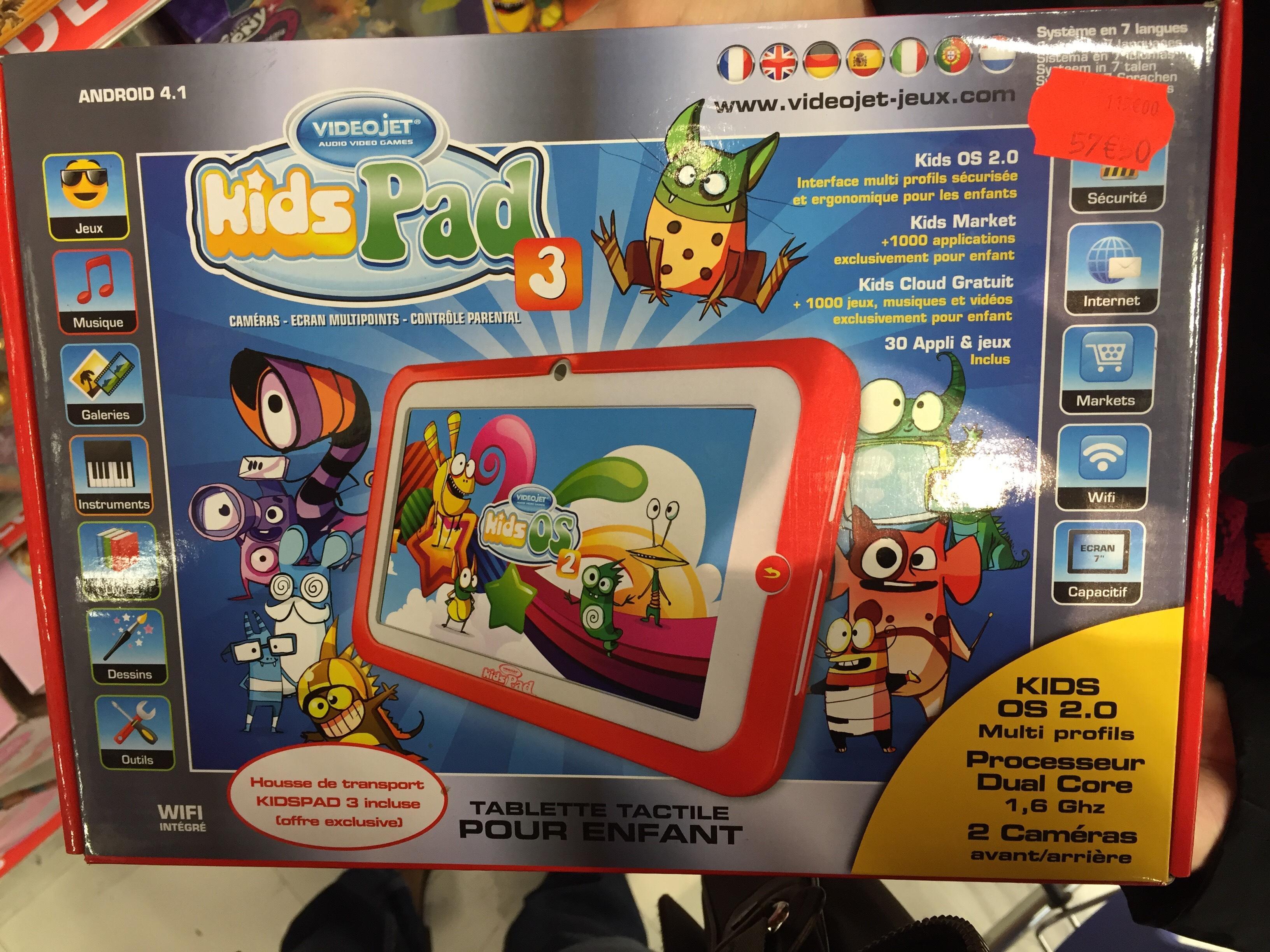 """Tablette 7"""" Kidspad 3 pour enfants (gros stock)"""