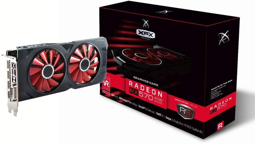 Carte Graphique AMD Radeon RX 570 (XFX RX-570P4DFD6) - 4Go (Vendeur Tiers)