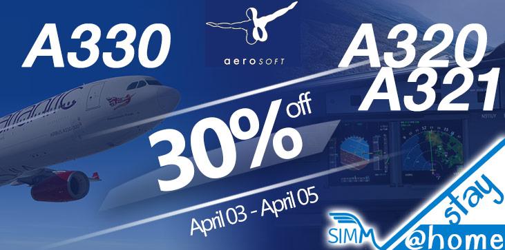 Sélection d'add-ons en promotion pour Prepar3D & FSX (Dématérialisés) - Ex : A330 (simmarket.com)