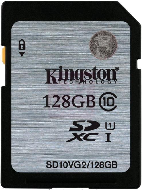 Carte mémoire SDXC Kingston UHS-I Classe 10 - 128Go