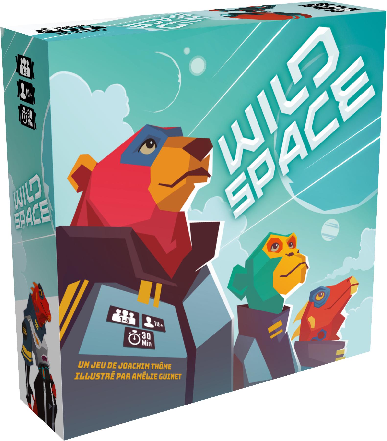 Jeu de société Wild Space + extension disponibles gratuitement en version Print'n'Play (Dématérialisé - catchupgames.com)