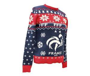 Pull Hiver France FF - Bleu/Rouge (Plusieurs tailles)