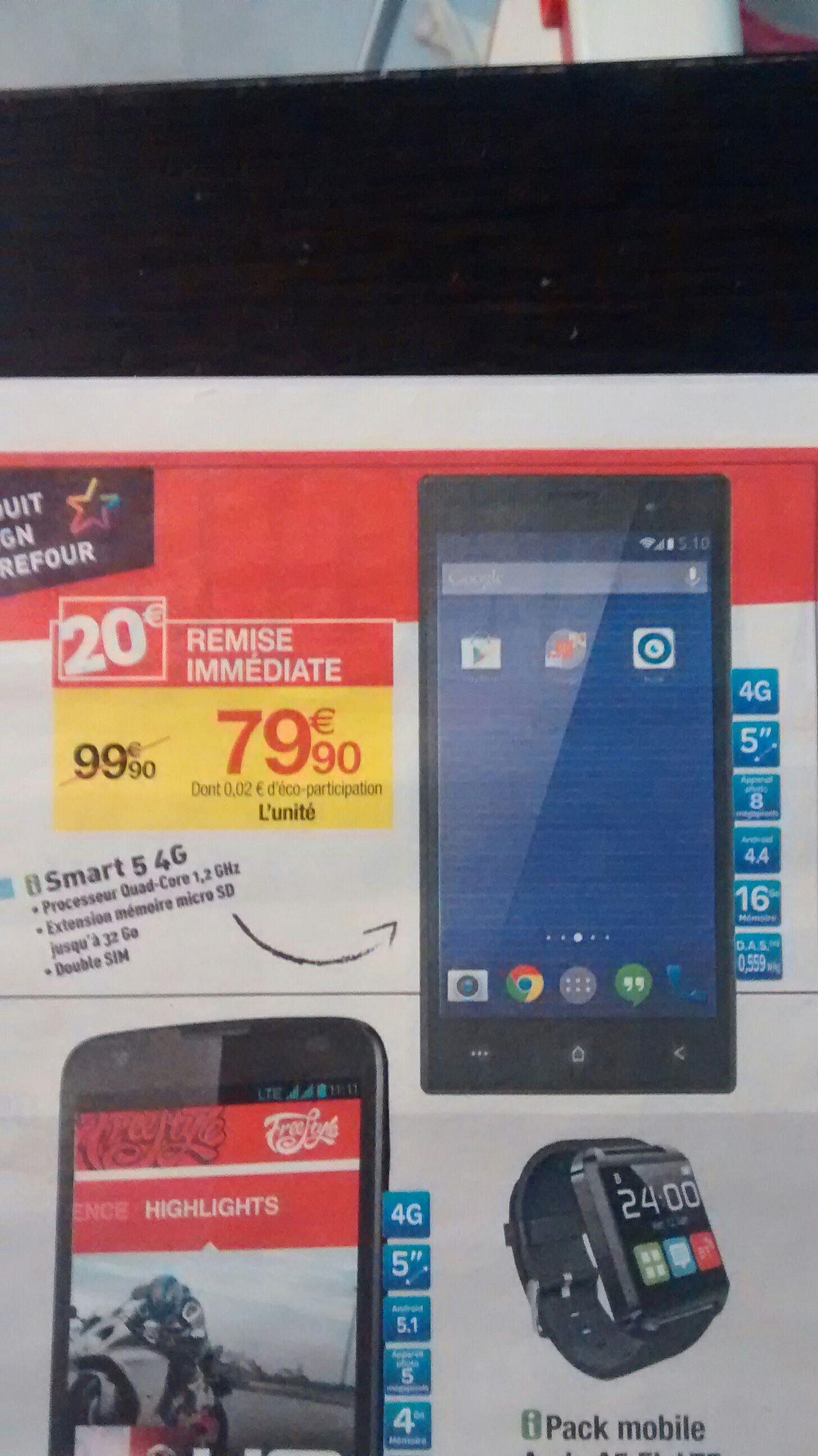"""Smartphone 5"""" Carrefour Smart 5 4G 16 Go"""