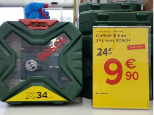 Coffret Bosch X-line - 34 pièces
