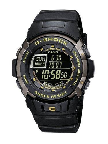Montre Homme Quartz Digital G-Shock Casio - G-7710-1E Cadran LCD Bracelet Résine Noir
