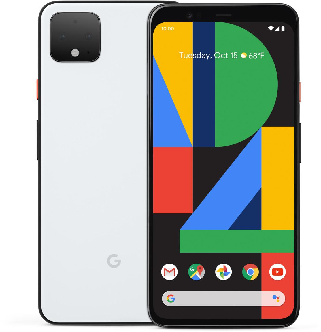 "Smartphone 5.7"" Google Pixel 4 - full HD+, SnapDragon 855, 6 Go de RAM, 128 Go, blanc"