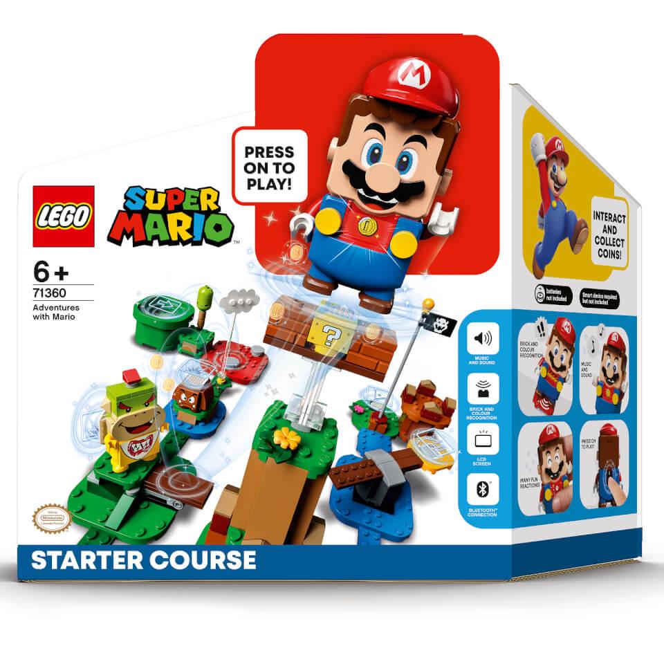 [Précommande] Pack de démarrage Lego Super Mario - Les Aventures de Mario (71360) + Ensemble d'extension Super champignon (30385)