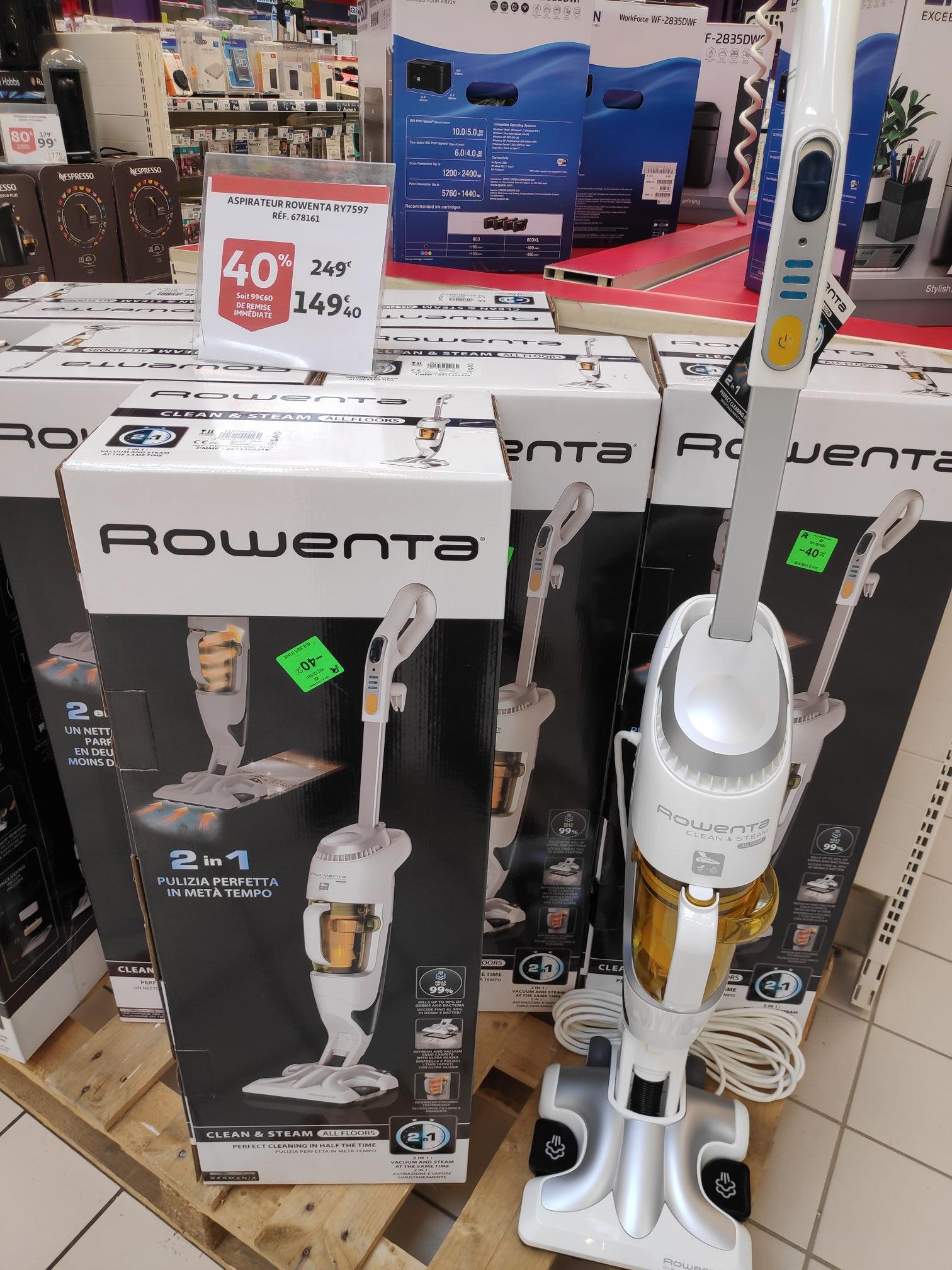 Aspirateur Rowenta Clean and Steam RY7597 - Méru (60)