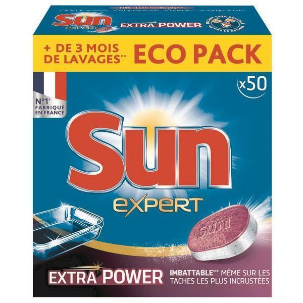 Paquet de 50 Tablettes Lave-Vaiselle Sun Expert Tout en 1 Extra Power ou Extra Shine (Via 6.85€ sur Carte Fidélité) - Claye-Souilly (77)