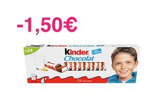 Kinder chocolat (via Shopmium) - Boite de 16 à 0.89€ ou Boite de 24