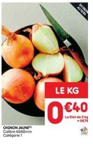Filet de 2kgs d'oignons jaunes - Origine France