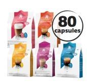 5 Paquets de 16 capsules de café divers parfums Café Royal compatible Dolce Gusto (via BDR et Shopmium)