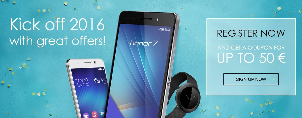 [Nouveaux Clients] Smartphone Honor 7 à 299.99€, Honor 6 à 249.99€ et Honor Z1 Band