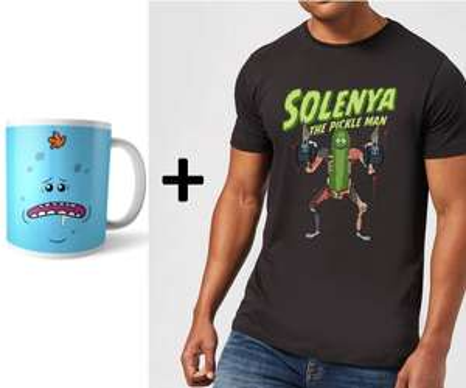 Pack mug + tee-shirt femme ou homme Rick & Morty Solenya The Pickle Man + livraison gratuite