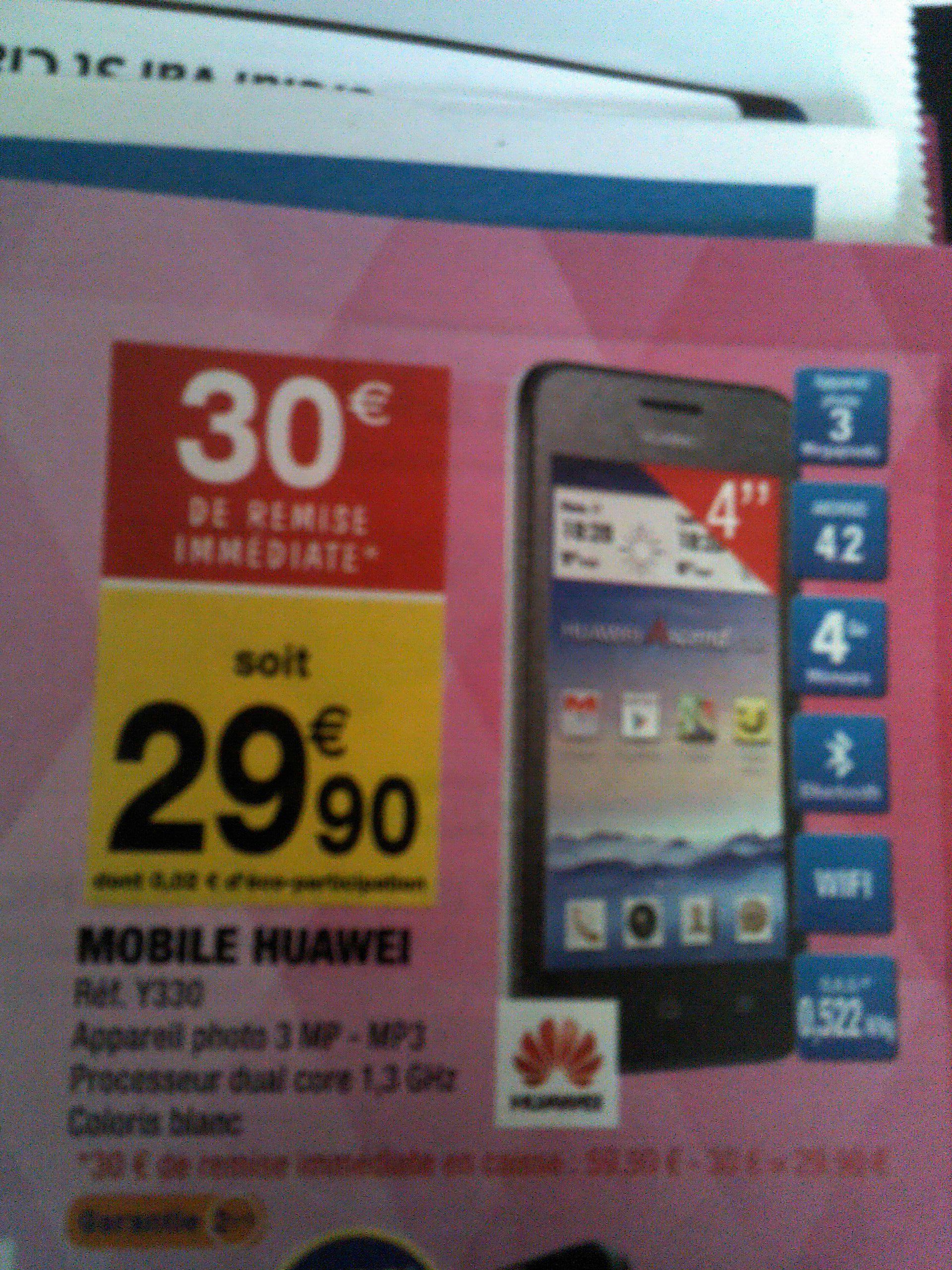 """Smartphone 4"""" Huawei Y330 - 512Mo de ram, 4Go de rom"""