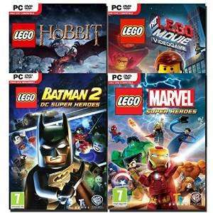 Bundle 4 jeux Lego : Marvel + Movie + Hobbit + Batman 2