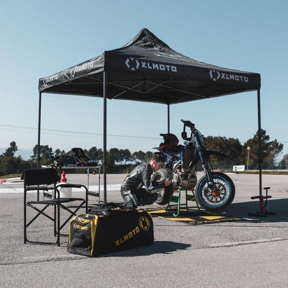 Tente paddock XLMoto Easy-Up - 3x3m, sans cloisons, gris ou noir
