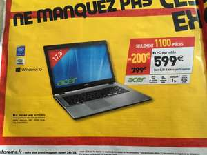 "Pc portable 17.3"" Acer E5-771G-5315 (i5-4210u, 8 Go de mémoire vive , 1 To HDD)"