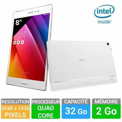 "Tablette 8"" Asus ZenPad Z580C Blanche - (Intel Moorefield, 32 Go, 2 Go Ram , Lollipop 5.0)"