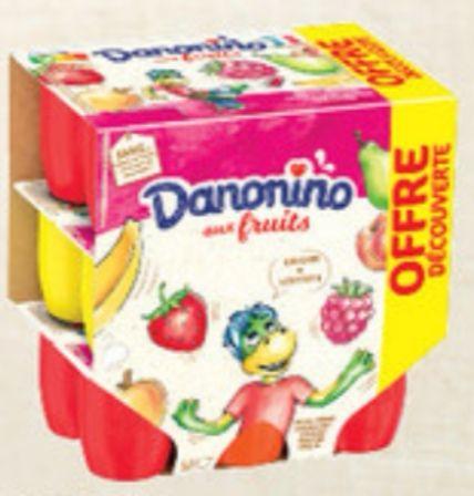 Paquet de 18 yaourts Danonino aux fruits - 18x50g
