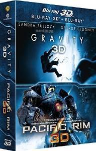 Coffret Blu-ray Gravity 3D + Pacific Rim 3D