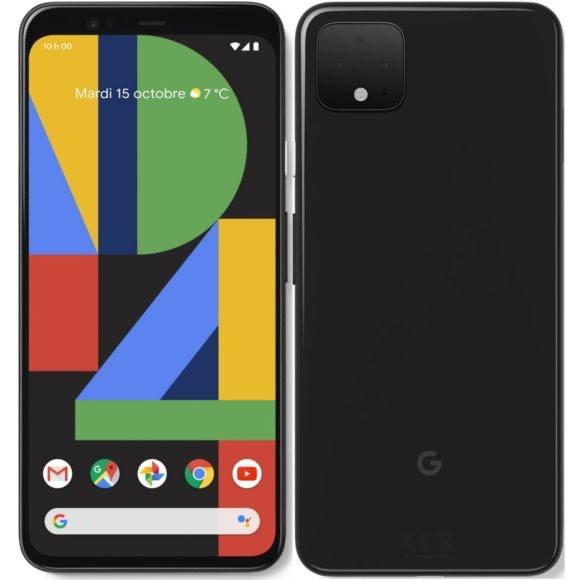 """Smartphone 6.3"""" Google Pixel 4 XL - WQHD+, SnapDragon 855, 6 Go de RAM, 64 Go, noir"""