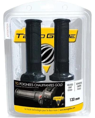 Poignées chauffantes pour moto Technoglobe Gold Evo - 120 mm
