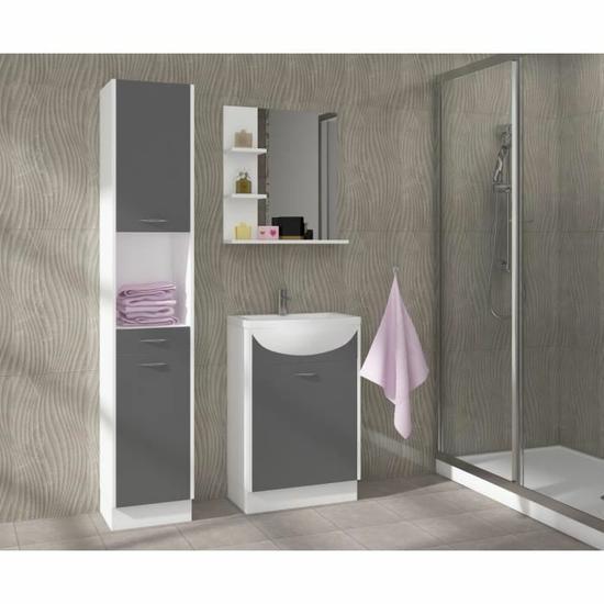 Salle de bain complète Celso - Gris mat