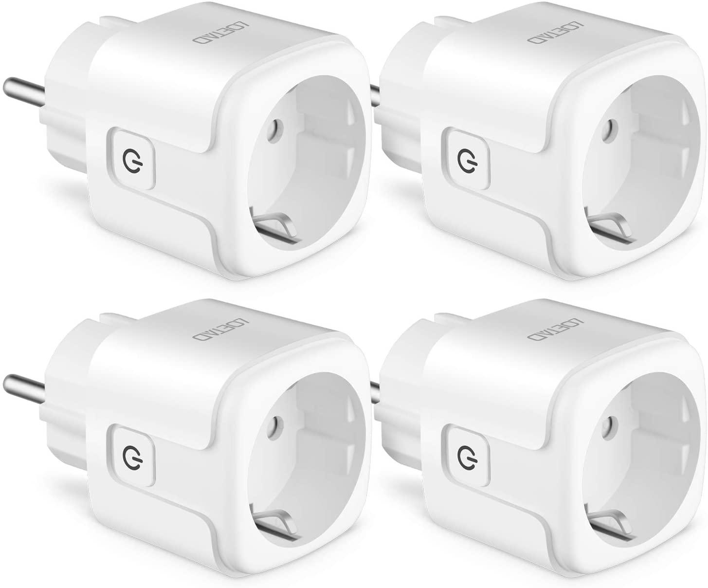 Lot de 4 prises connectées Leotad 16A avec suivi consommation électrique (Vendeur Tiers)