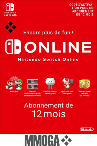 Abonnement 12 mois Nintendo Switch Online (Dématérialisé - 12.99€ via POURVOUS5)