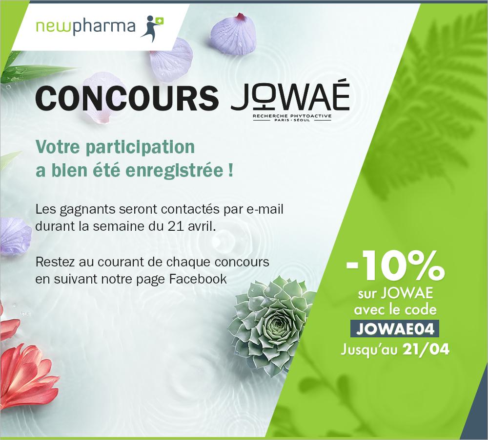 10% de réduction sur les produits Jowaé