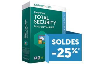 Abonnement annuel Anti-virus Kaspersky Total Security (2016)