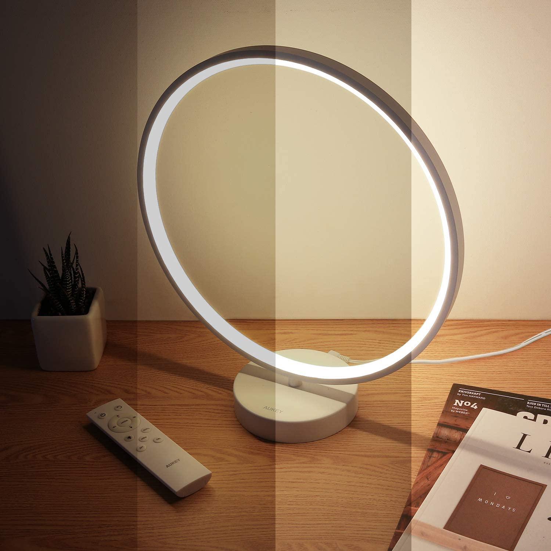 Lampe de chevet LED en anneau Aukey - RGB, Avec télécommande (Vendeur Tiers)