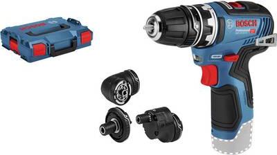 Perceuse-visseuse sans fil Bosch GSR 12V-35 FC ( brushless ) + Mandrins + Coffret L-Boxx