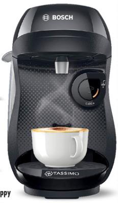 Machine a café Bosch TAS1002C2 (Noir) + 4 paquets de 16 dosettes (64 dosettes)