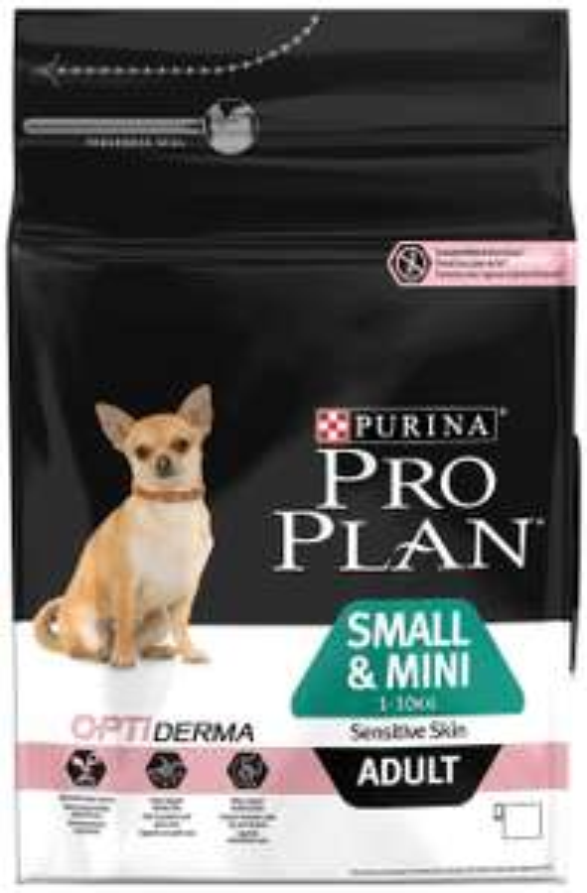 Purina Pro Plan Small & Mini Adult Sensitive Skin avec Optiderma Croquettes pour Chien Adulte 3 kg