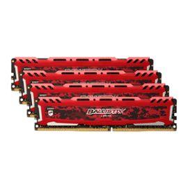 Kit Mémoire Ballistix Sport LT DDR4 - 32 Go (4 x 8 Go), DIMM 288 broches, 2666 MHz (+7,71 € en super points)