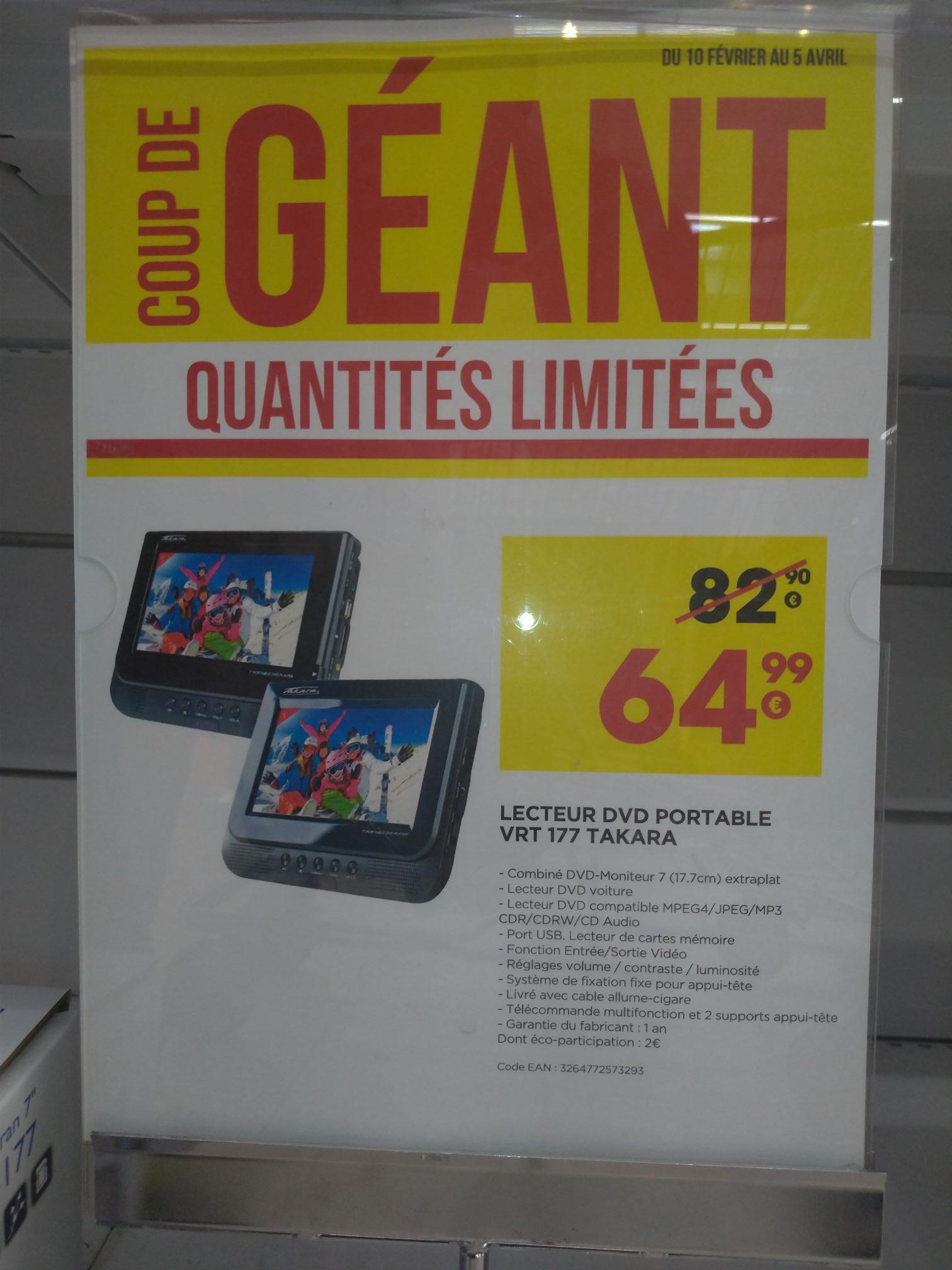 """Pack double-écrans 7"""" pour auto Takara VRT-177 (avec lecteur DVD intégré, port USB) - Auxerre (89)"""