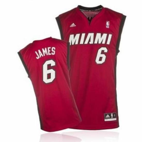 Sélection de maillots de NBA en promo - Ex : Maillot Adidas Miami Heat LeBron James