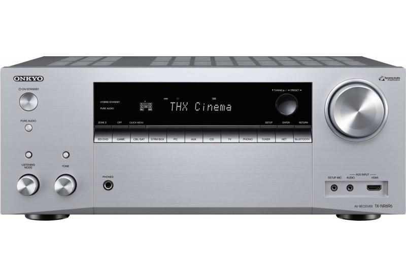 Amplificateur Onkyo TX‑NR696 - Récepteur de réseau AV, Canal 7.2, Argent