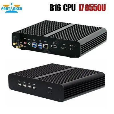 Mini PC Partaker Fanless Mini - i7 8565U, 16 Go RAM, 256 Go SSD (vendeur tiers)
