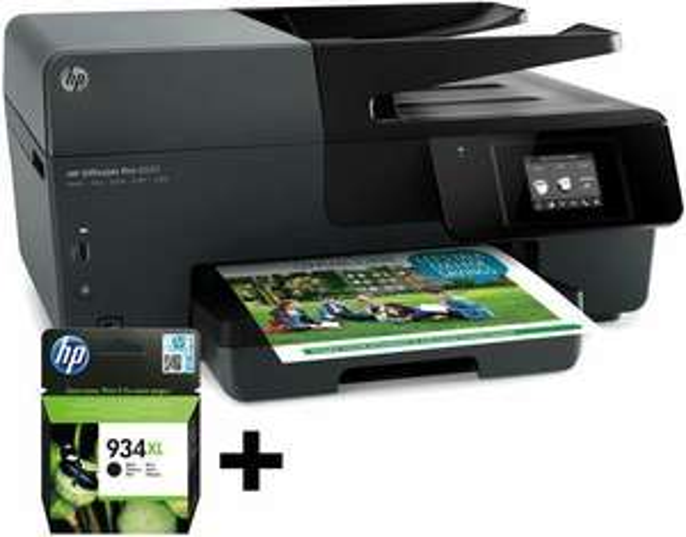 Imprimante HP OfficeJet Pro 6830 + Cartouche 934 Noir XL + extension garantie 3 ans (via ODR de 40€)
